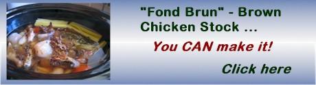 advert brown chicken stock