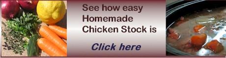 advert homemade chicken stock