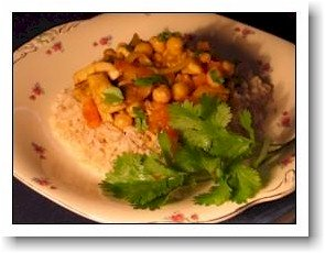 chicken and spicy chick peas